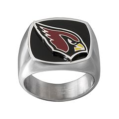 Men's Stainless Steel Arizona Cardinals Ring