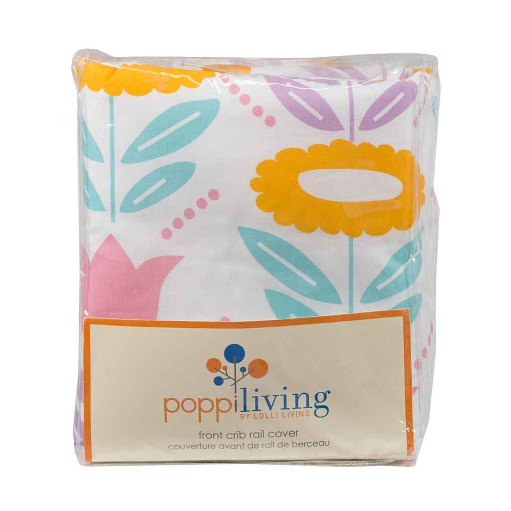 Poppi Living Flower Front Crib Rail Cover