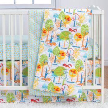 Poppi Living Forest Creatures 3-pc. Crib Bedding Set