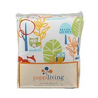Poppi Living Forest Creatures Front Crib Rail Cover