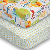 Poppi Living 2 pkForest Creatures Fitted Crib Sheet Set