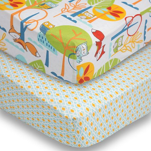 Poppi Living 2-pk. Forest Creatures Fitted Crib Sheet Set