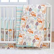 Poppi Living Safari Animals 3 pc Crib Bedding Set