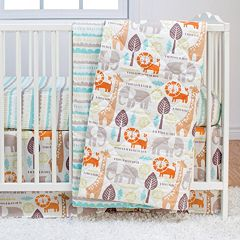 Poppi Living Safari Animals 3 pc Crib Bedding Set