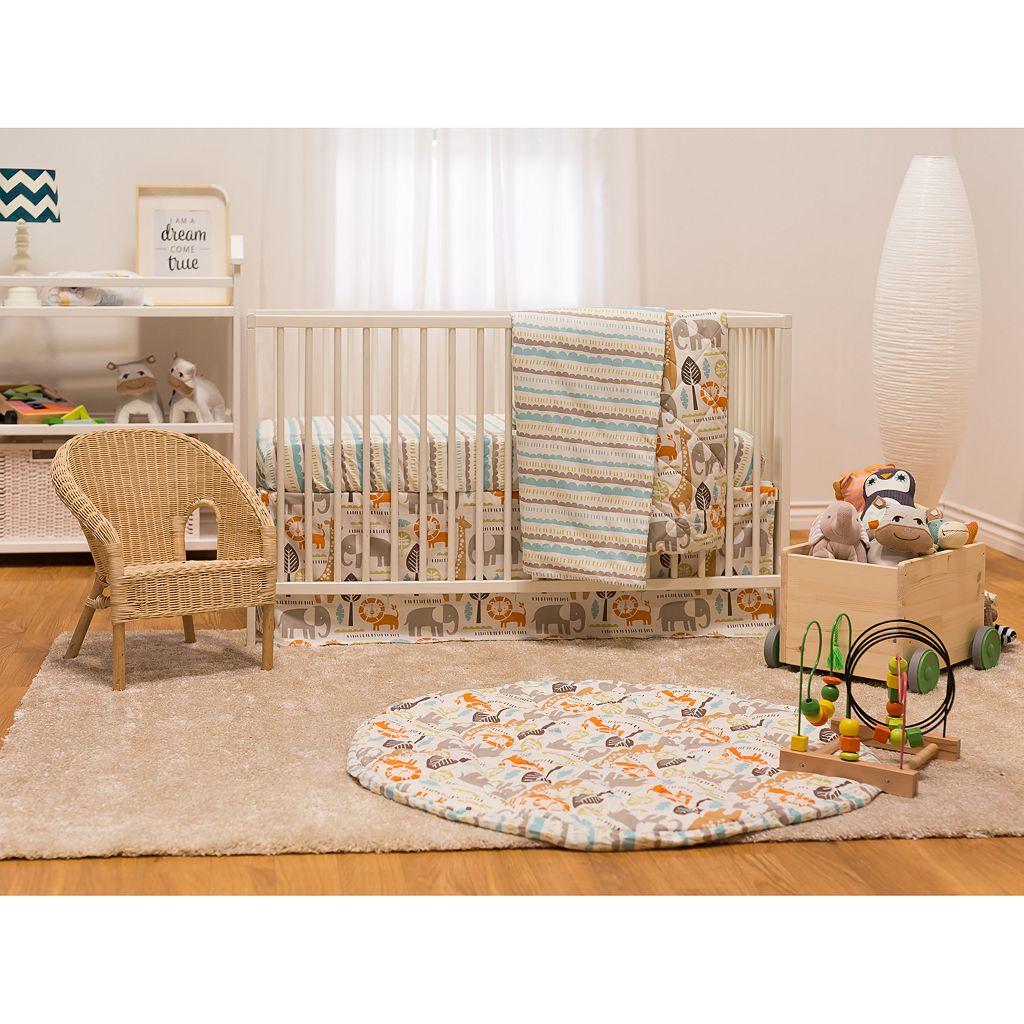 Poppi Living Safari Animals 3-pc. Crib Bedding Set