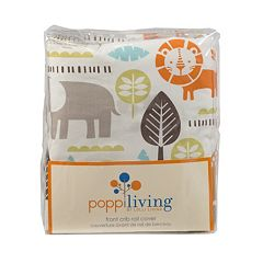 Poppi Living Safari Animals Front Crib Rail Cover