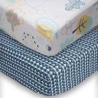 Poppi Living 2-pk. Timberland Fitted Crib Sheet Set