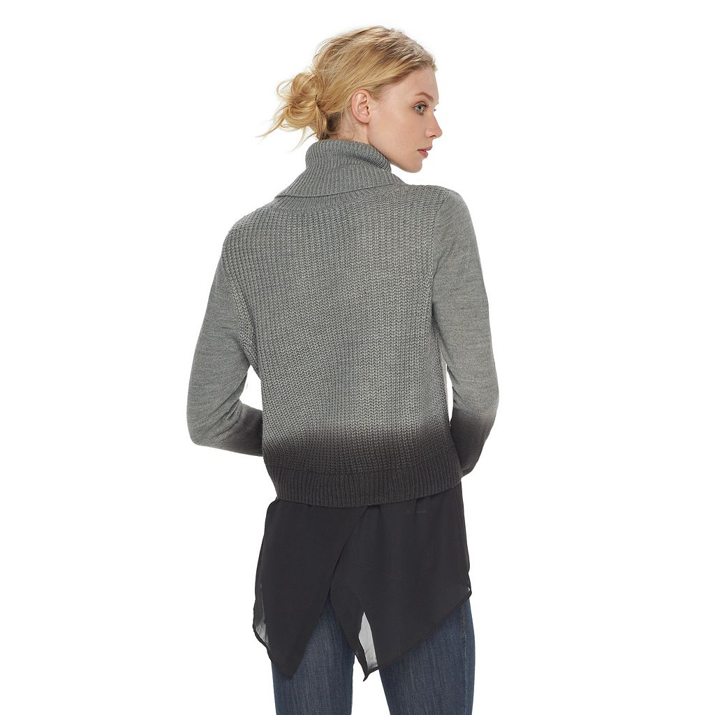 Women's Rock & Republic® Mock-Layer Turtleneck Sweater