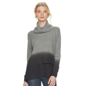 Women's Rock & Republic® Mock-Layer Turtleneck Sweater