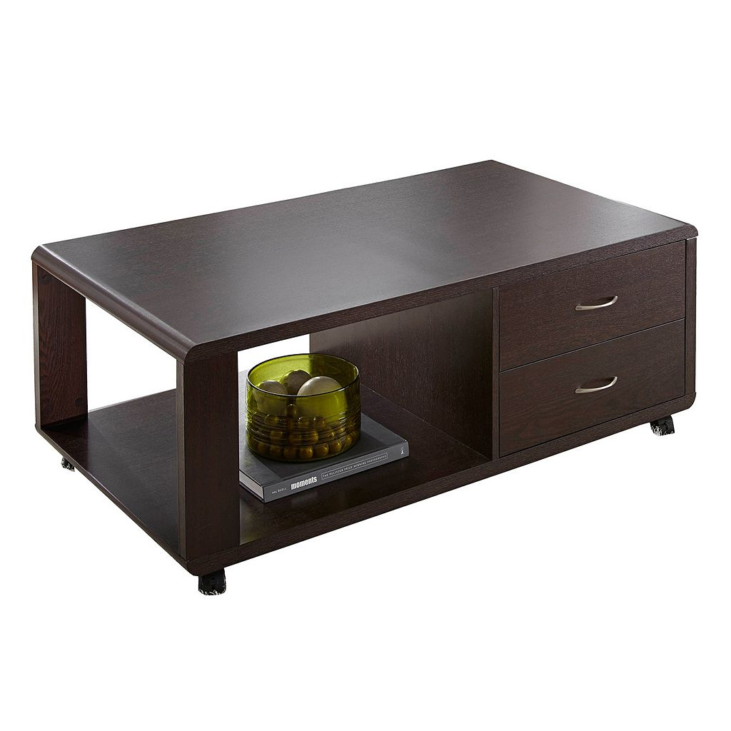 Ella Wheeled 2-Drawer Coffee Table