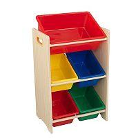 KidKraft 5 Plastic Bin Storage Unit