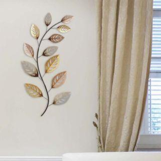 Stratton Home Decor Metallic Leaf Metal Wall Decor