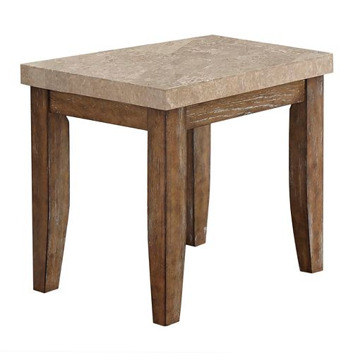 Franco Distressed End Table