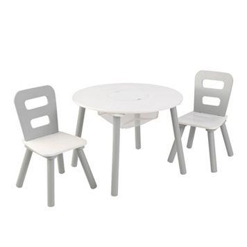 KidKraft Round Storage Table & Chair 3-piece Set
