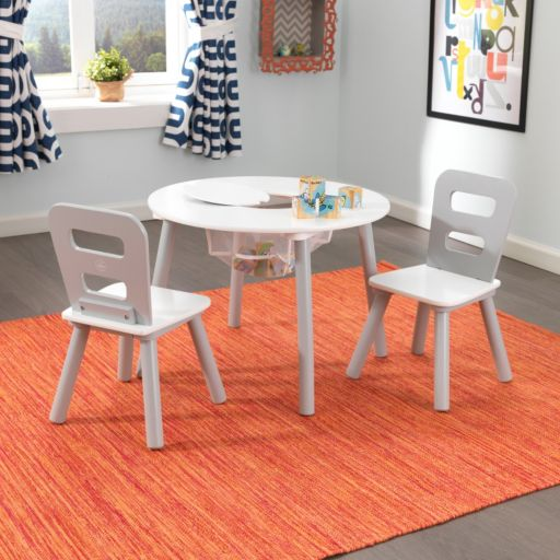 KidKraft Round Storage Table & Chair 3-piece Set