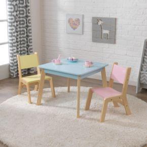 KidKraft Pastel Modern Table & Chair 3-piece Set