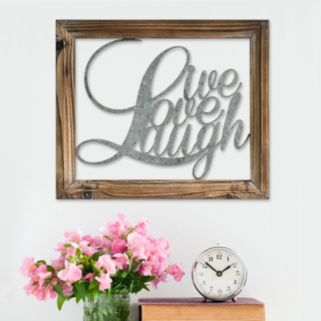 "Stratton Home Decor ""Live Love Laugh"" Wall Decor"