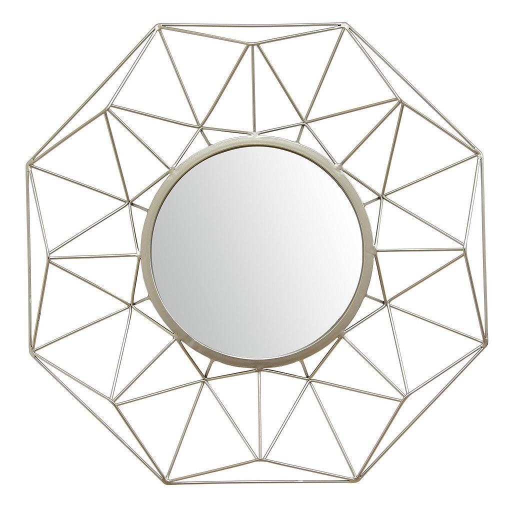 Stratton Home Decor Amber Geometric Wall Mirror