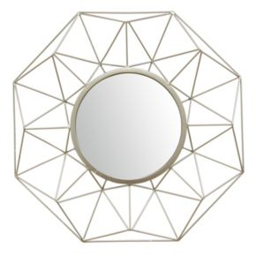 Stratton Home Decor Amber Geometric Wall Mirror