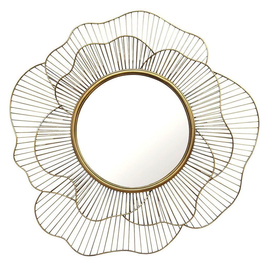 Stratton Home Decor Stella Abstract Geometric Floral Wall Mirror