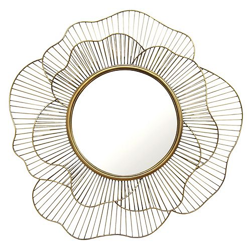 Stratton Home Decor Stella Abstract Geometric Floral Wall Mirror