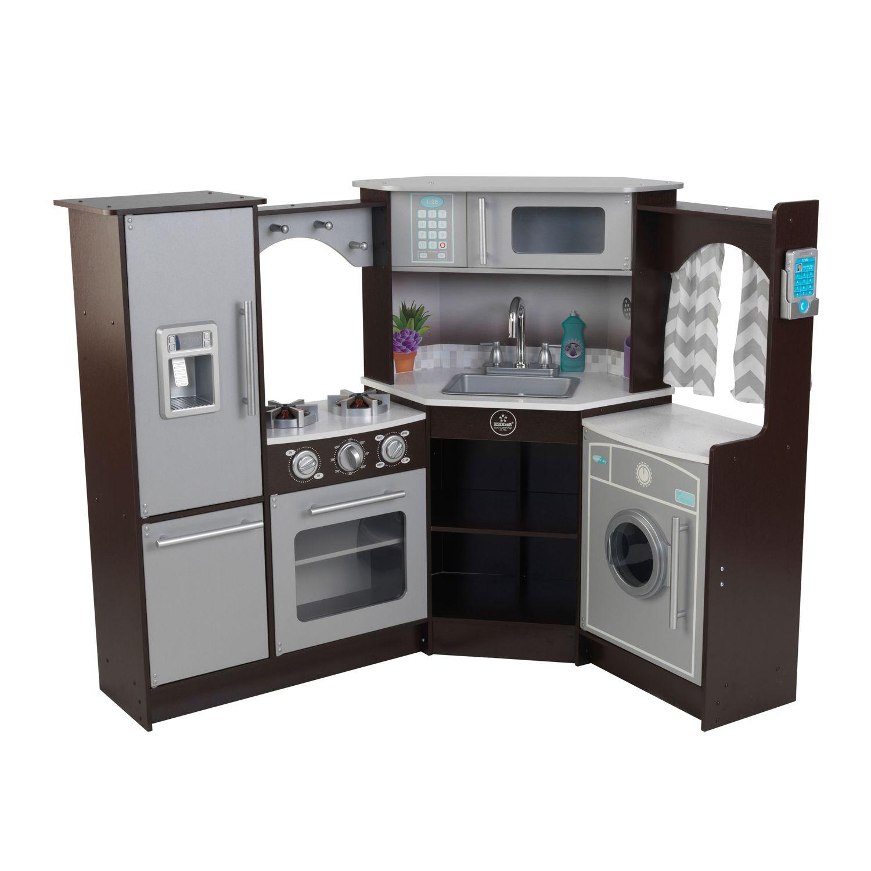 KidKraft Ultimate Corner Play Kitchen With Lights U0026 Sounds