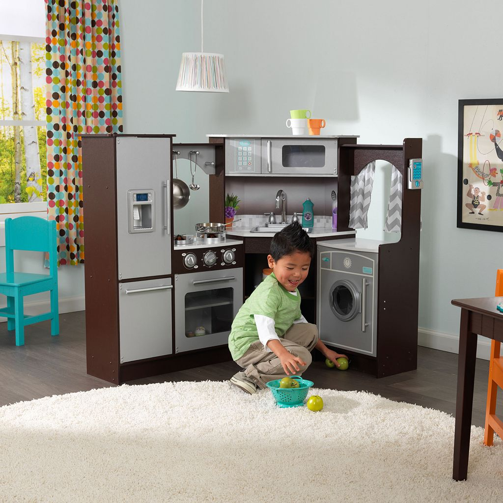 KidKraft Ultimate Corner Play Kitchen with Lights & Sounds