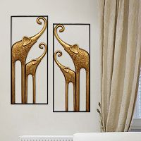 Stratton Home Decor Metal Elephant Panel Wall Decor 2-piece Set