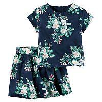 Girls 4-8 Carter's Floral Top & Skirt Set