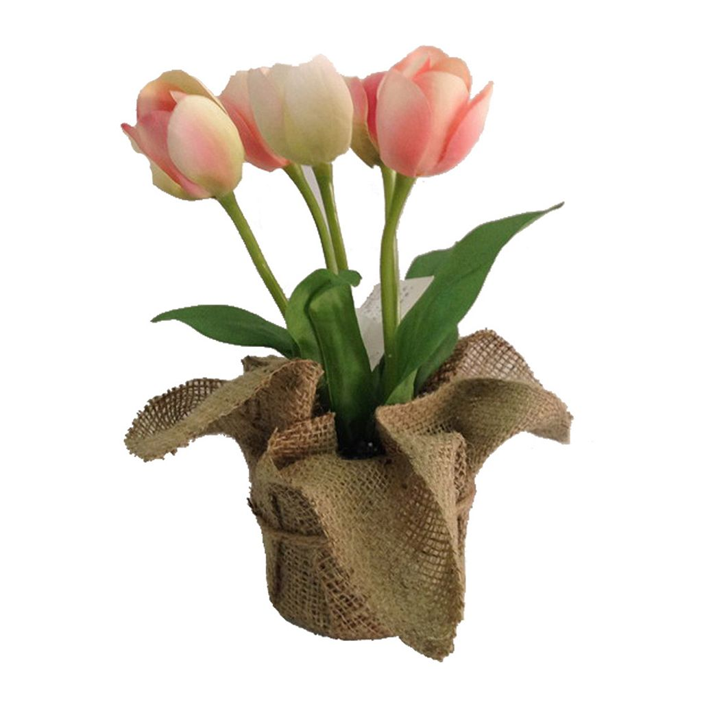 SONOMA Goods for Life™ Artificial Pink Tulip Potted Plant