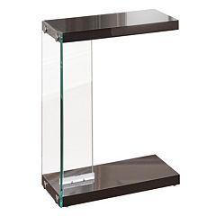 Elaina Glass End Table