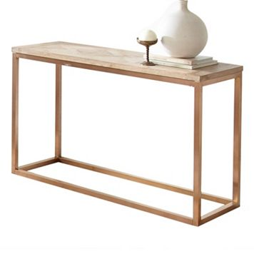 Gino Geometric Parquet Sofa Table