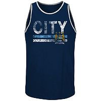 Men's Majestic Manchester City FC Keep Score Tank Top