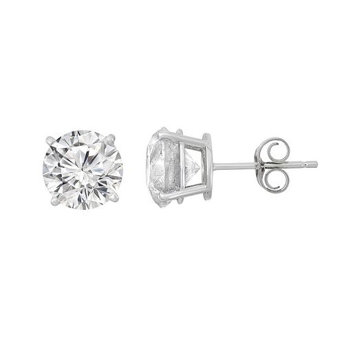 14k White Gold 3 Carat T.W. Diamond Stud Earrings
