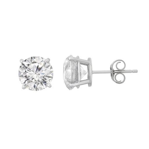 14k White Gold 3 Carat T.W. Diamond Stud Earrings