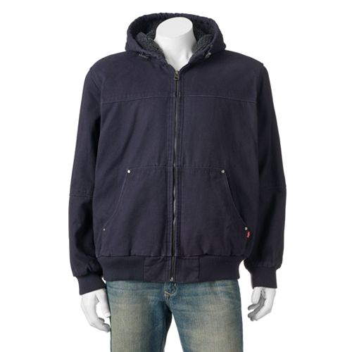 Big & Tall Levi's Sherpa-Lined Canvas Bomber Jacket