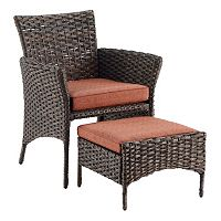 SONOMA Goods for Life™ Biscay Wicker Arm Chair & Ottoman 2-piece Set