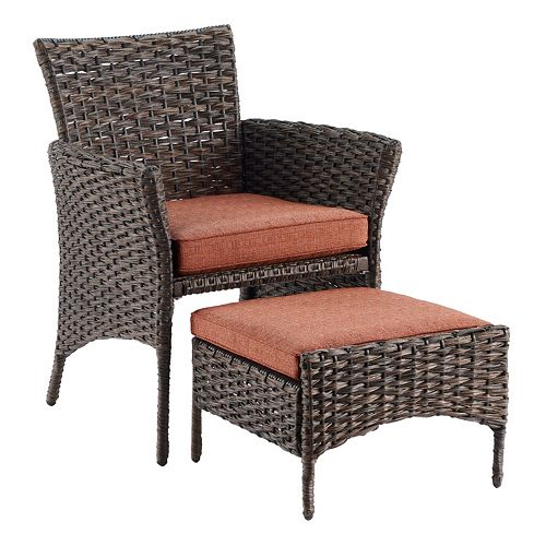SONOMA Goods for Life® Biscay Wicker Arm Chair & Ottoman 2 ...