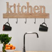 Stratton Home Decor 'Kitchen' Sign 5-Hook Wall Decor