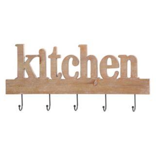 "Stratton Home Decor ""Kitchen"" Sign 5-Hook Wall Decor"