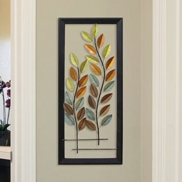 Stratton Home Decor Autumn Blowing Tree Panel Wall Decor