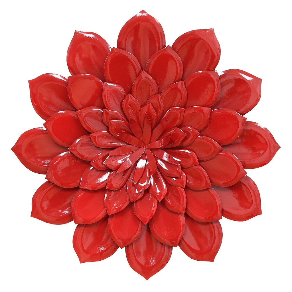 Stratton Home Decor Layered Flower Metal Wall Decor