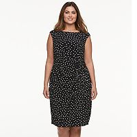 Plus Size Suite 7 Polka-Dot Sheath Dress