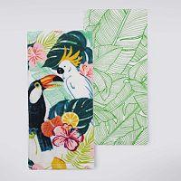 Celebrate Summer Together Tropical Bird Kitchen Towel 2-pk.