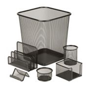 Honey-Can-Do 6 pc Steel Mesh Desk Set
