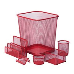 Honey-Can-Do 6-piece Steel Mesh Desk Set