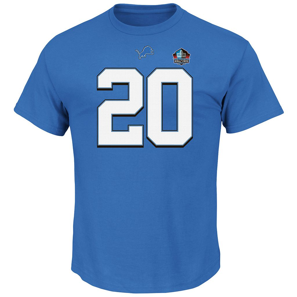 Big & Tall Majestic Detroit Lions Barry Sanders Hall of Fame Eligible Receiver Tee