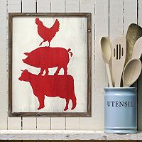 Stratton Home Decor Cow, Pig & Rooster Wall Art