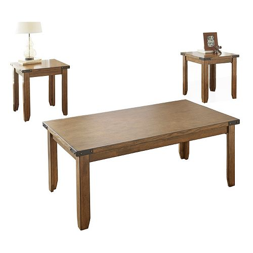 Chester Nailhead Coffee Table & End Tables 3-piece Set
