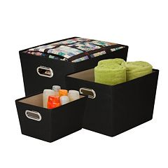 Honey-Can-Do 3 pc Tote Set